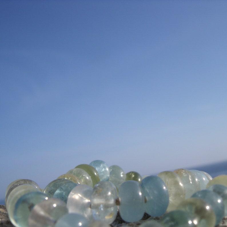 Aquamarine colorful-summer freshness necklace