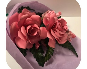 2 Pink Rose bouquet