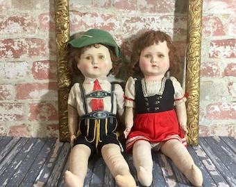 German Doll Couple Etsy