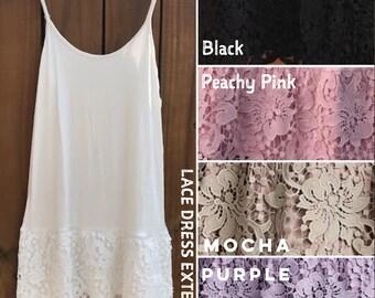 db221646c762 Lace Dress Extender Slip Extenders Make Dress Longer Plus Size Scalloped  Lace Lingerie Tunic Extender Full Slip Cami Extender Long Shirt