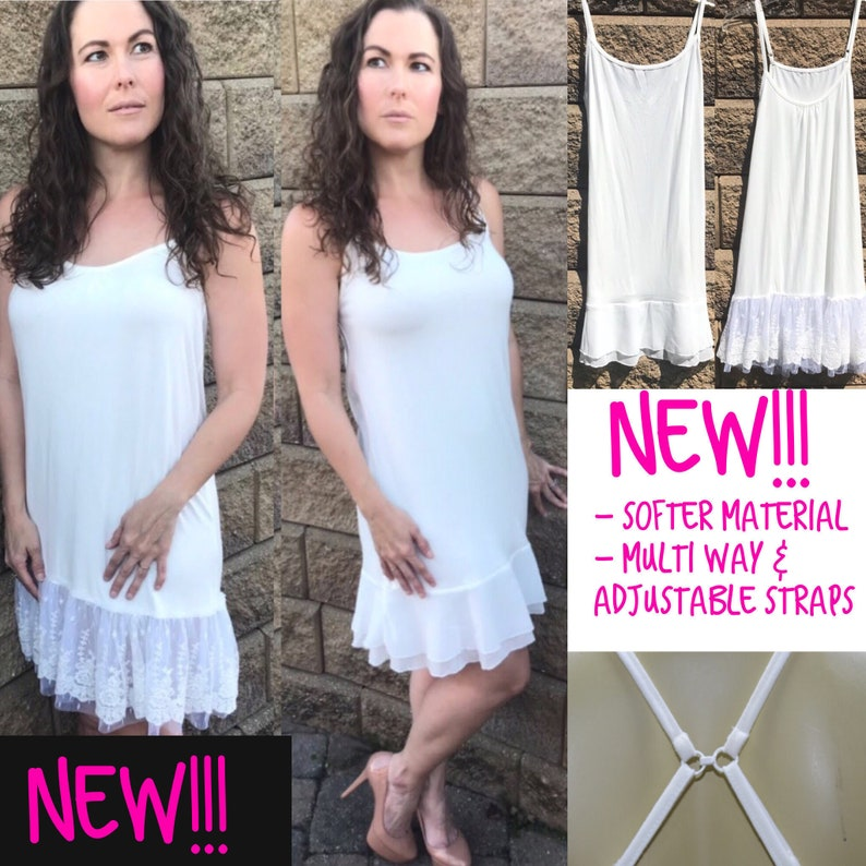 8aabf23bc2a59 Lace Dress Extender Slip Extenders White Slip Dress Lace Slip   Etsy