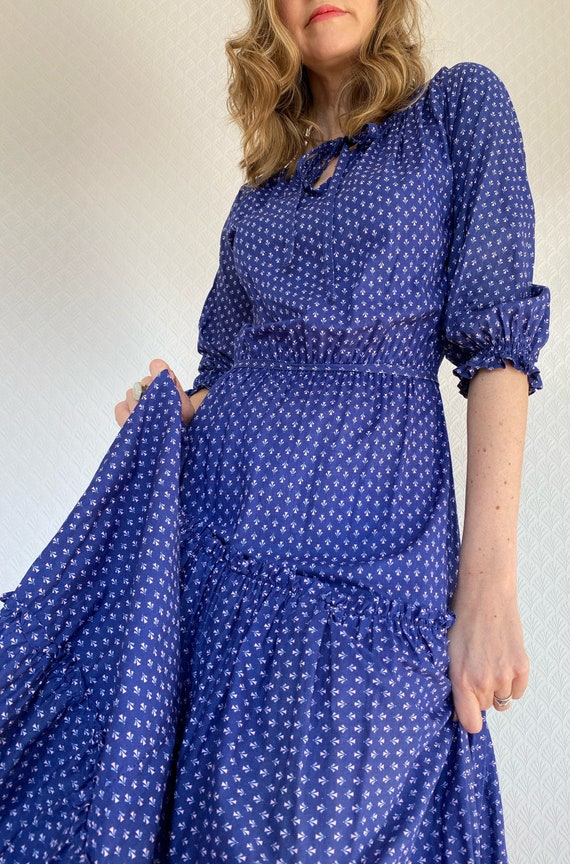 Vintage Dress | 1970's Laura Ashley Made in Carno… - image 1