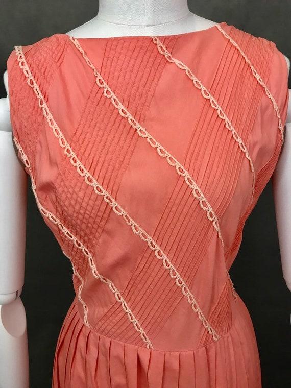 Vintage Dress | 1950s Salmon Pink Summer Dress | … - image 7