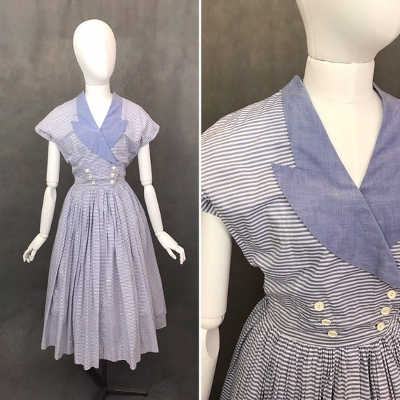 Vintage Dress | 1950s Horrockses Summer Dress | Ra