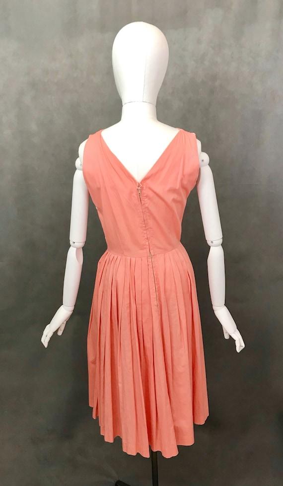 Vintage Dress | 1950s Salmon Pink Summer Dress | … - image 4