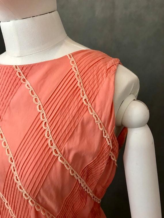 Vintage Dress | 1950s Salmon Pink Summer Dress | … - image 6