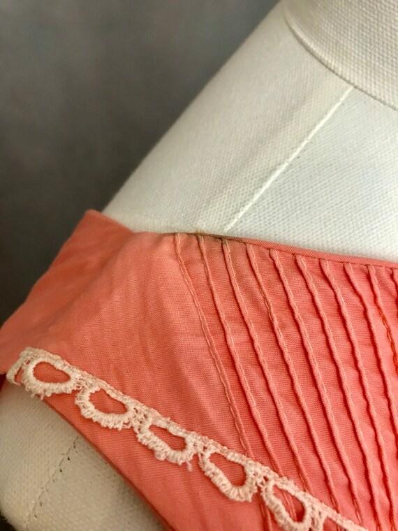 Vintage Dress | 1950s Salmon Pink Summer Dress | … - image 9