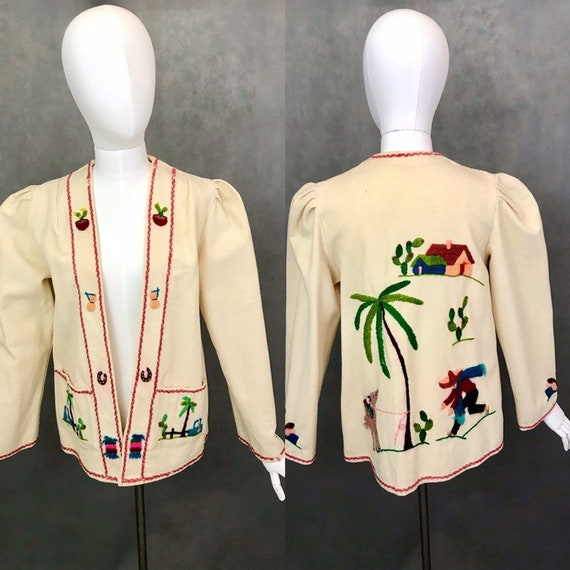 Vintage Jacket | 1940s Embroidered Mexican Souveni