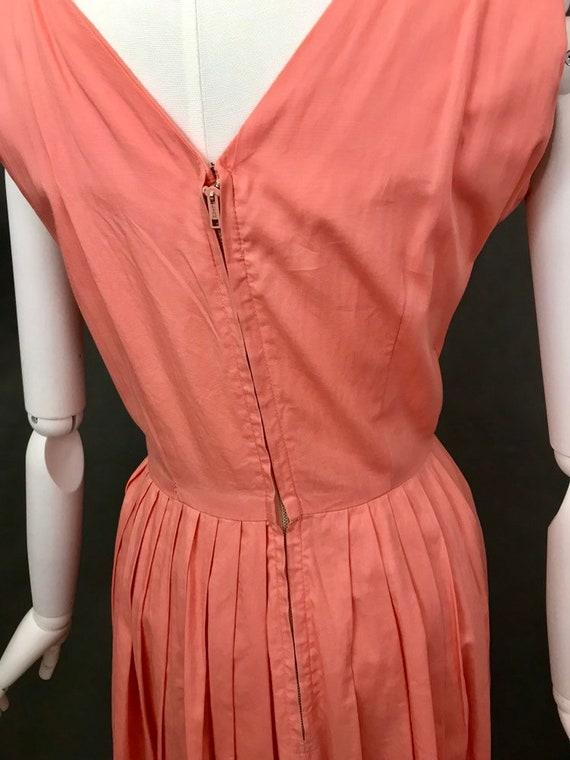 Vintage Dress | 1950s Salmon Pink Summer Dress | … - image 8