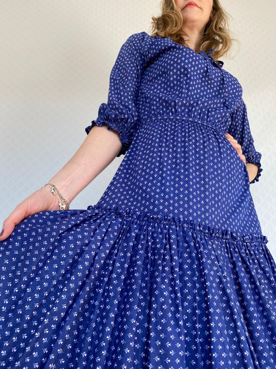 Vintage Dress | 1970's Laura Ashley Made in Carno… - image 4