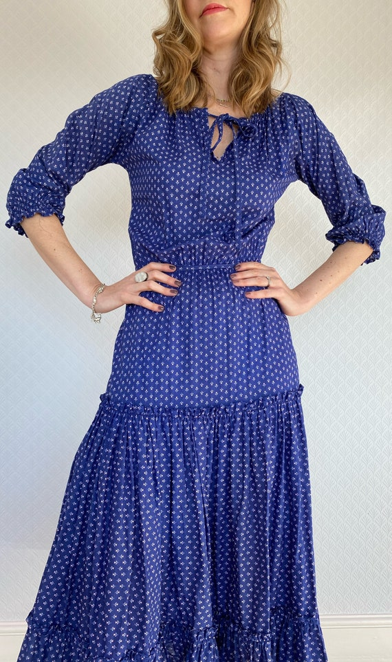 Vintage Dress | 1970's Laura Ashley Made in Carno… - image 5