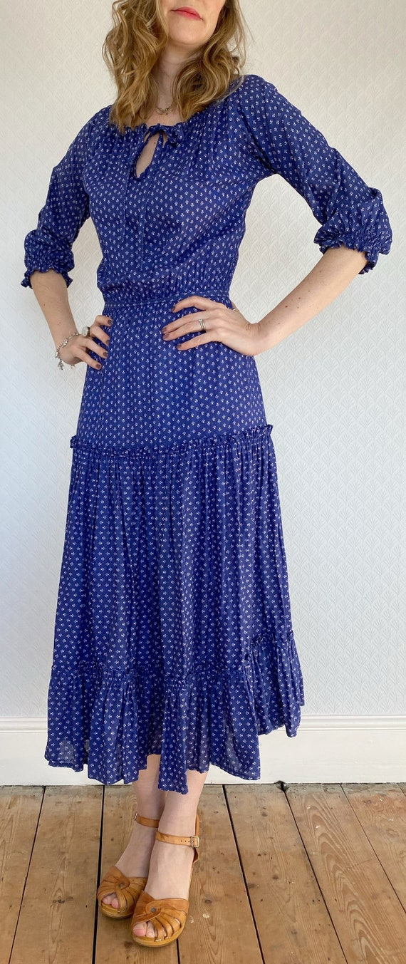 Vintage Dress | 1970's Laura Ashley Made in Carno… - image 2