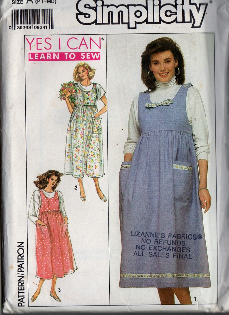 8849edc2ba2 Sewing Pattern Simplicity 9261 Womens Pullover Maternity