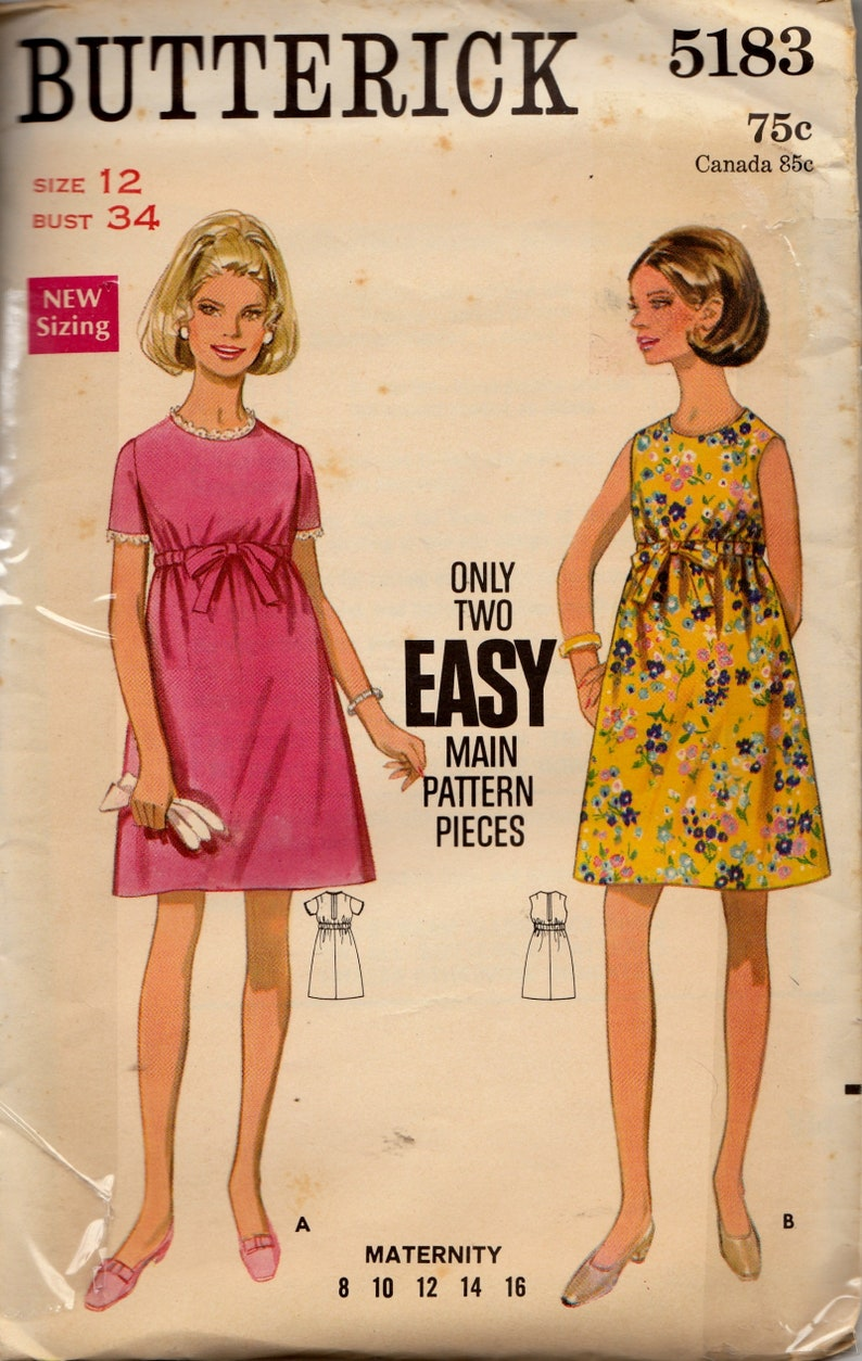 19743306cabad Vintage 70s Sewing Pattern Butterick 5183 Women's One | Etsy
