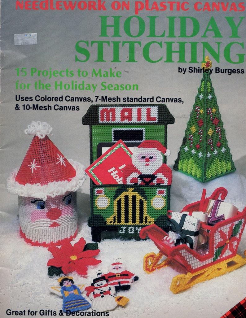 Welcome Santa Christmas Plastic Canvas Cross Stitch Chart Pattern Dick Martin