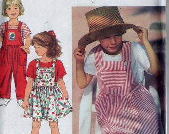 Sewing Pattern Simplicity 8451 Childs Toddlers Overall in Two Lengths, Jumper & Top Sz. 2-3-4 Uncut