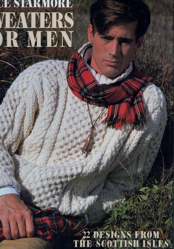 Alice Starmore Sweaters For Men Aran Sweater 22 Designs Etsy