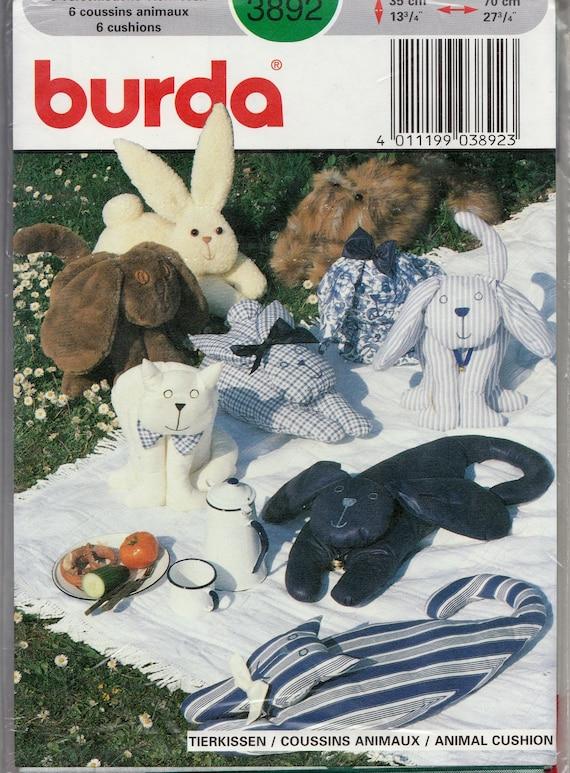 Nähen Schnittmuster Burda 3892 gefüllte Tier Kissen Kissen   Etsy