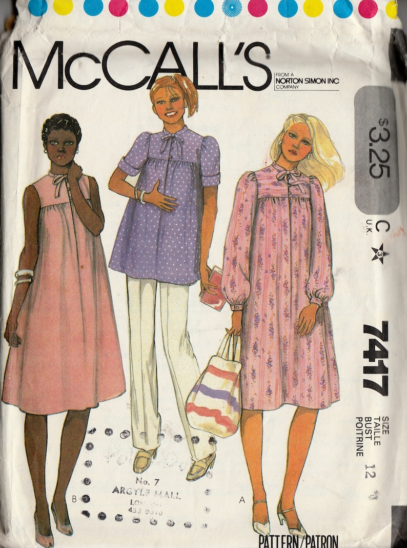 ab13c457a73a Vintage 80 s Sewing Pattern McCall s 7417 Women s