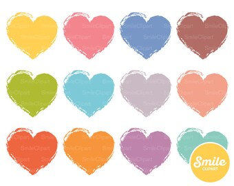 Rustic Heart Clipart Illustration For Commercial Use