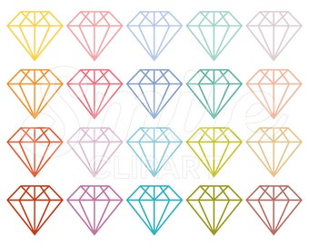 Diamond Clipart Set for Commercial Use - 0024