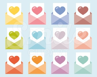 Love Letter Clipart Set for Commercial Use - 0018