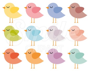 Baby Bird Clipart Set for Commercial Use - 0020