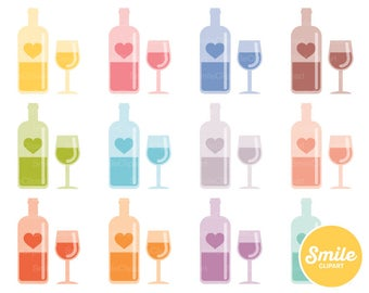 Wine Lover Clipart Illustration for Commercial Use | 0065