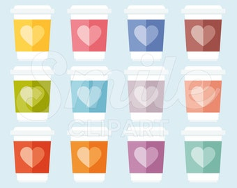 Take Away Coffee Clipart Set for Commercial Use - 0012