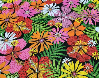 696f6b169329 Flip Flop Island-Flowers Cotton Fabric from Exclusively Quilters
