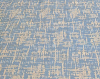 Blue Patterned Cotton Fabric