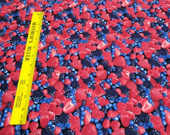 Mixed Berries Cotton Fabric from Timeless Treasures
