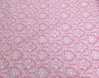 Pink Petite Dandy Damask Cotton Flannel Fabric (6557) from Michael Miller Fabrics