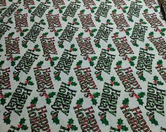 Happy Holidays Cotton Fabric