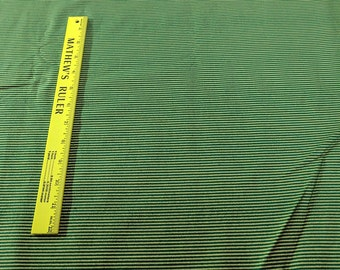 Small Green and Gold Striped Cotton Fabric