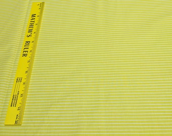 Citrus-Yellow and White Striped Cotton Fabric from Windham Fabrics