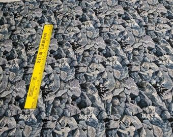 Landscape Medley-Dusty Blue Rocks Cotton Fabric (#423) from Elizabeth's Studio