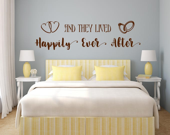 Incroyable Happily Ever After Master Bedroom Decal // Marriage Gifts