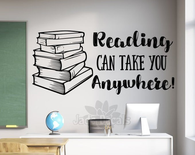 Reading wall decal //gift for readers