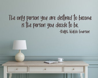 Inspirational quotes, Be yourself, Ralph waldo Emerson, wall decal, motivational quotes,