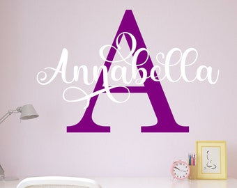 Girls name decal, name wall decal, girls name decor, girls name wall decor, girls room decal,