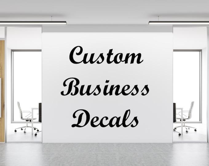 Custom business decal custom business sign business wall art business window decal  sc 1 st  JadeDecals & Vinyl Wall Decals - JadeDecals
