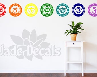 Chakra wall decals, Chakra art, Chakra decor, yoga wall decal, yoga studio decor