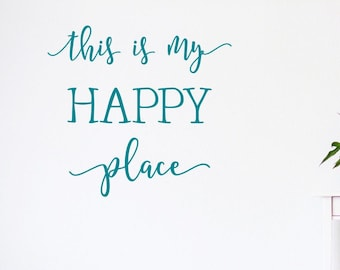 My happy place wall decal, This is my happy place, happy camper,