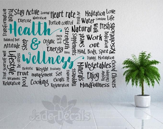 Health and wellness wall decal