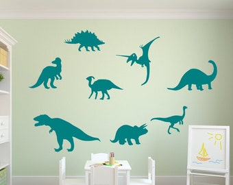 Dinosaur wall decals, dino decals, kids room decals, dinosaur wall decor, dinosaur wall art,