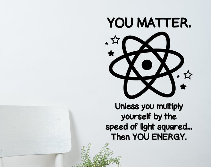 You matter classroom school science class wall art wall decal wall sticker