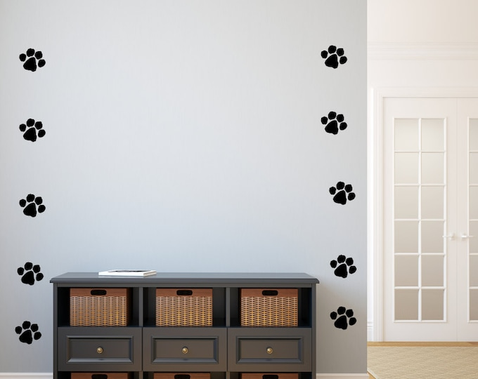 paw print decals, dog paw print decals, cat paw prints, veterinarian decals, paw prints decal
