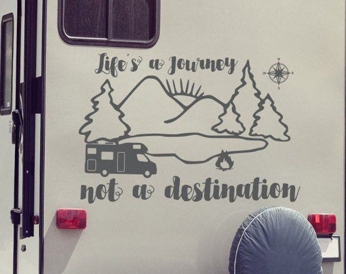 Life's a journey rv decal, rv gifts// decor for camper