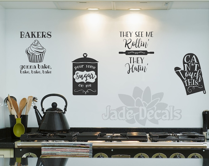 Baking wall decals, Bakers gonna bake, kitchen wall decals, baking decals, baking song lyrics